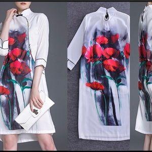 Dresses & Skirts - Silk and linen Kimono style dress